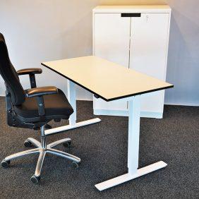 Vit Höj & Sänkbart skrivbord