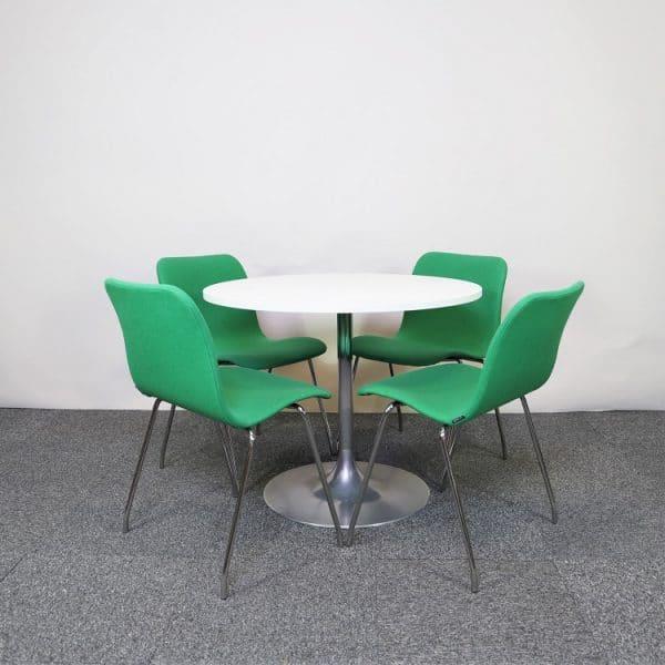 Caféstol Cornflake i grönt från Offecct